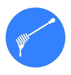 Honey dipper icon in black style isolated on white vector image vector image