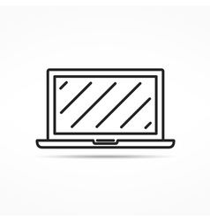Laptop Line Icon vector image vector image