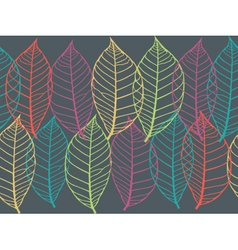 texture with leaves vector image