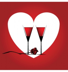 valentines cocktail vector image vector image