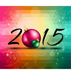 2015 Christmas Colorful Background vector image