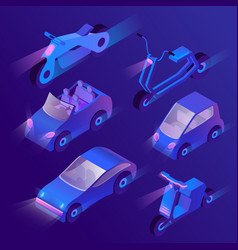3d isometric urban transportation with vector