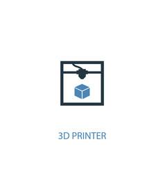3d printer concept 2 colored icon simple blue vector image