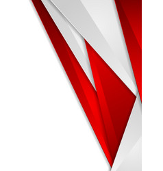 Abstract red and grey tech corporate background vector