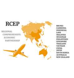 air cargo for regional comprehensive economic vector image
