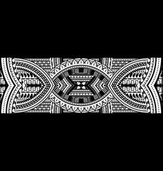 art tattoo sleeve in polynesian style border vector image