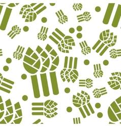 Asparagus seamless pattern vector