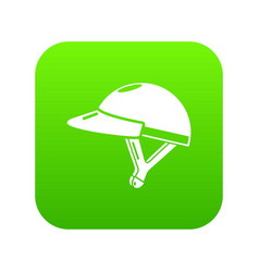 bike helmet girl icon green vector image