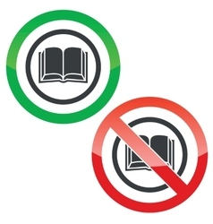 Book permission signs vector