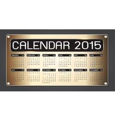 Calendar 2015 Fiber Background vector