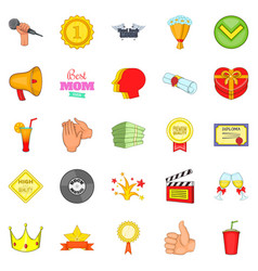 Cash consideration icons set cartoon style vector