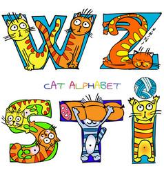 Cat alphabet i s t w z vector