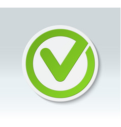 check mark button tick icon vector image