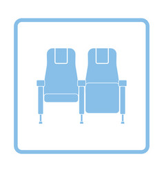 Cinema seats icon vector image