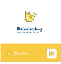 creative bird logo design flat color logo place vector image