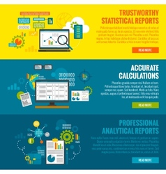 Data Analytics Banner Set vector image