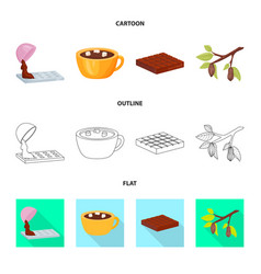 design of food and yummy logo collection vector image