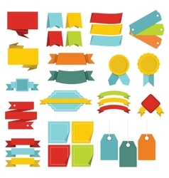 Different colorful labels icons set flat style vector
