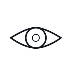 eye vision look human outline vector image