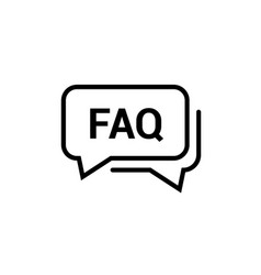 faq help line design icon query frequently vector image