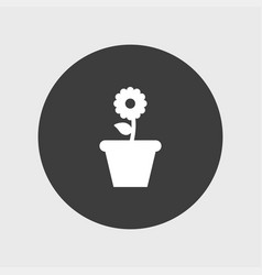 flower icon simple vector image vector image