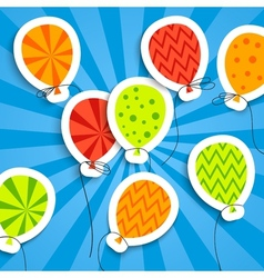 Funny postcard with balloons vector