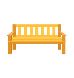 Garden or park bench with armrests vector