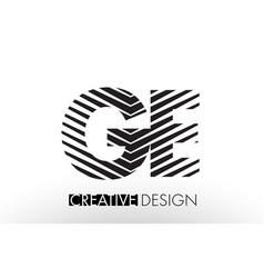 Ge g e lines letter design with creative elegant vector