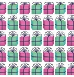 giftbox present pattern icon vector image