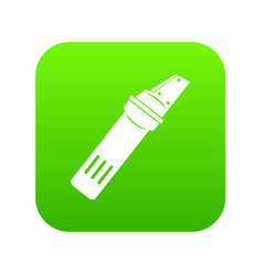 Glass cutter icon digital green vector
