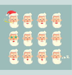 Grandfather emoticons set vector
