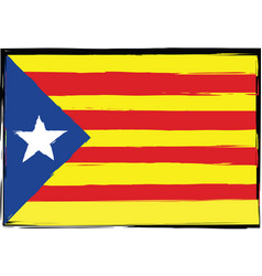 grunge catalonia flag or banner vector image