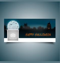 Halloween landscape timeline cover vector