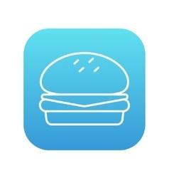 Hamburger line icon vector image