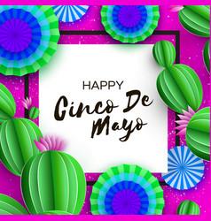Happy cinco de mayo greeting card colorful blue vector