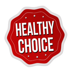 healthy choice label or sticker vector image