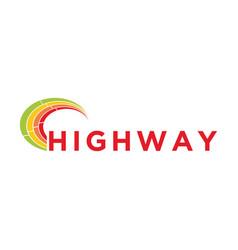 Highway delivery logo service simple minimalist vector