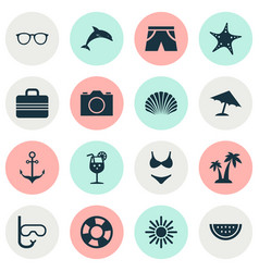 Hot icons set collection of bikini goggles vector