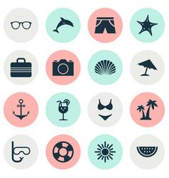 Hot icons set collection of bikini goggles vector