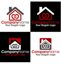 housing logo vector image