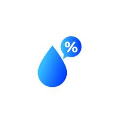 Humidity percent icon vector