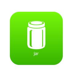 jar icon green vector image