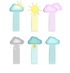 labels with a cloud vector image vector image