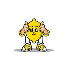 Lemon fruit design mascot vector