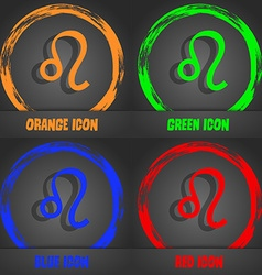 Leo zodiac icon Fashionable modern style In the vector image