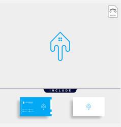 Letter t home logo template design vector