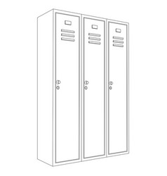 lockers outline drawing vector image