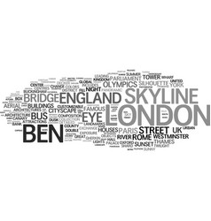 London word cloud concept vector