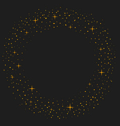 magic dust circle gold glittering star dust vector image