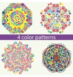 Mandala zentangl doodle painting pattern vector